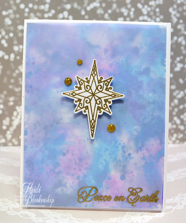 here is a look at the card i designed dont you just love the soft colors in the background i had some fun playing with the tim holtz distress oxide inks - Peace On Earth Christmas Cards