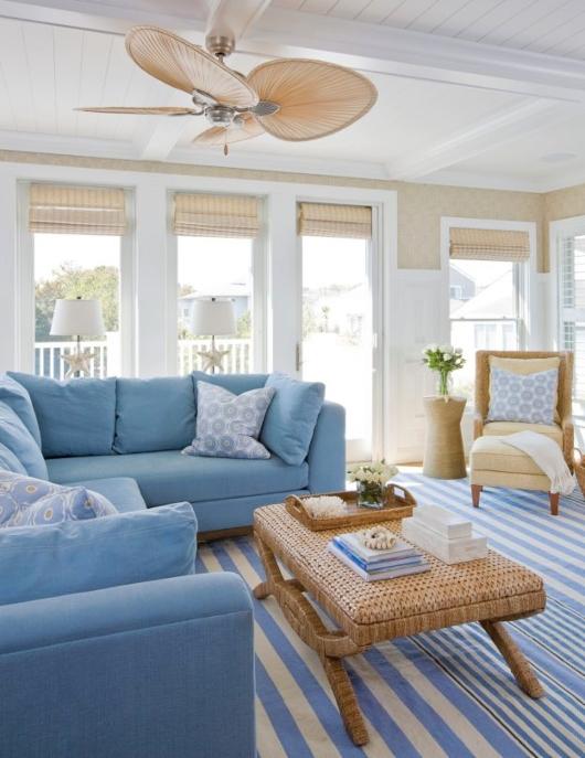 Designer Living Room Ideas with Blue Sofas