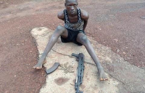 Tension as police nab Fulani herdsman with AK47 rifle in Enugu