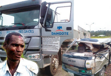 area boy breaks dangote truck lagos