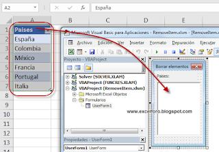 VBA: Otra forma de cargar y eliminar elementos de un ListBox