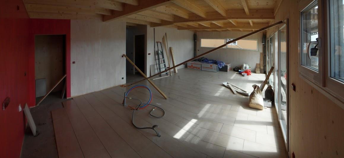notre maison passive au pays des 3 fronti res lorraine carrelage dans le salon. Black Bedroom Furniture Sets. Home Design Ideas
