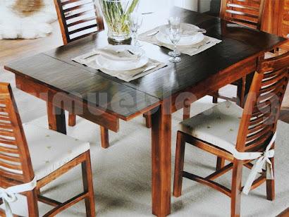 mesa comedor extensible teca 4107