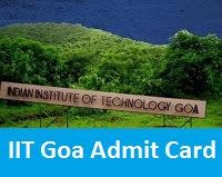 IIT Goa Admit Card