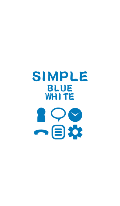 SIMPLE blue*white