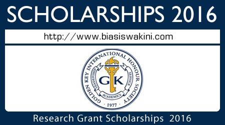 Research Grant Scholarships 2016