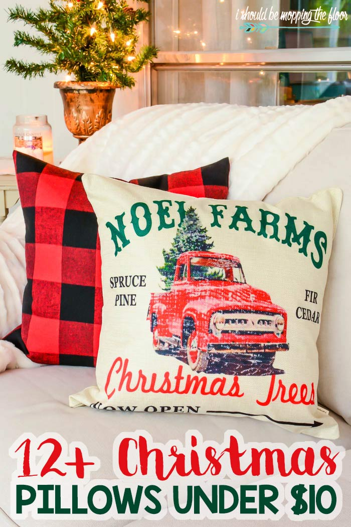 Farmhouse Christmas Throw Pillows