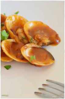 almejas a la marinera: 10 recetas fáciles- almejas a la marinera con pasta
