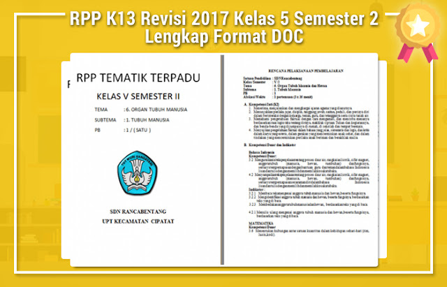 RPP K13 Revisi 2017 Kelas 5 Semester 2