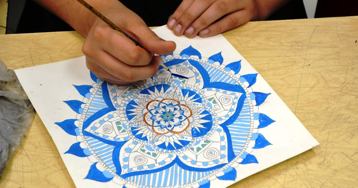 7th Grade Mandala Paintings on 7th Grade