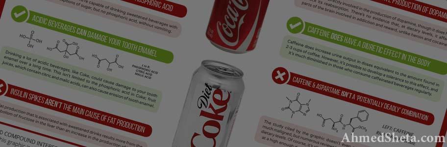ملخص تأثير الكولا الدايت على الجسم