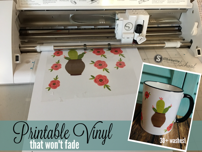photograph relating to Laserjet Printable Vinyl titled The Ideal Printable Vinyl But for Silhouette Print and Slice