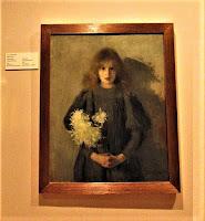 Dziewczynka z chryzantemam - Olga Boznańska 1894
