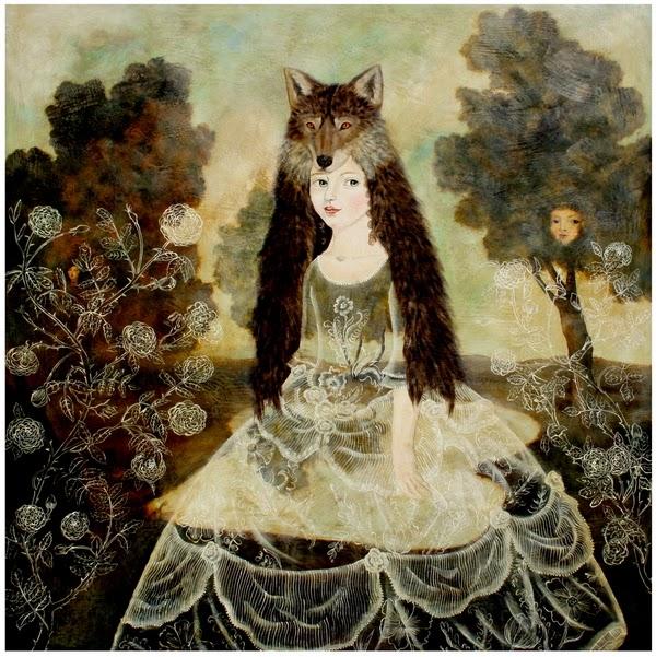 Menina Lobo - Anne Siems e suas pinturas com figuras transparentes