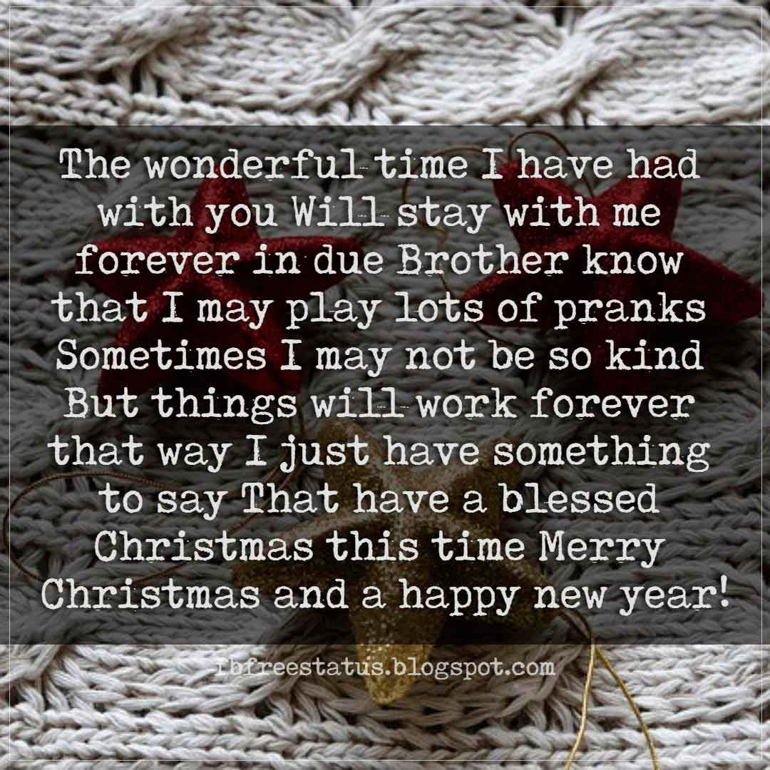 Christmas greetings messages for brother