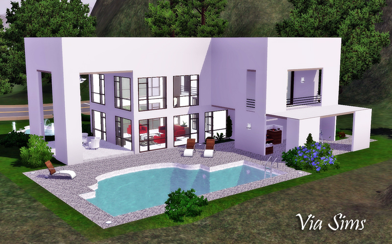 Bridgeport house the sims 3 via sims for Casa moderna los sims 3