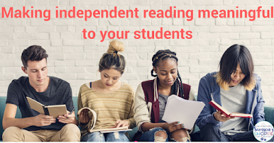 Upper elementary and secondary teenagers reading