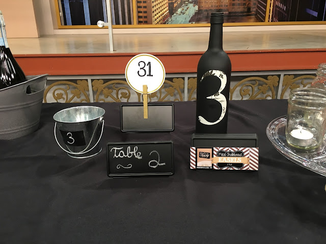 How to Save Money on Your Wedding with Windy City LIve: Chalkboard table numbers | all dressed up with nothing to drink...