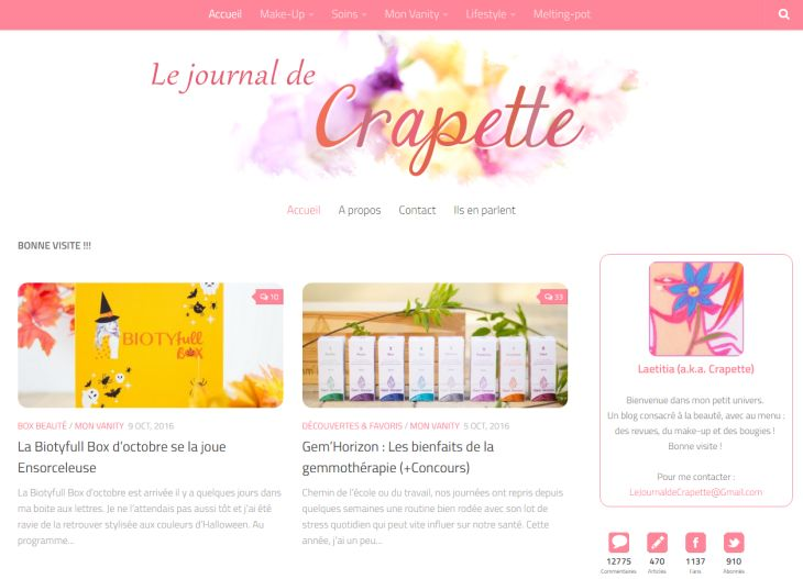 blog le journal de crapette