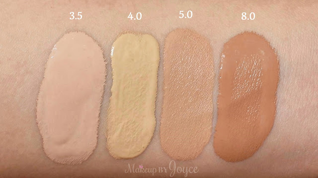 Urban Decay All Nighter Liquid Foundation 4.0 NC30 Swatches