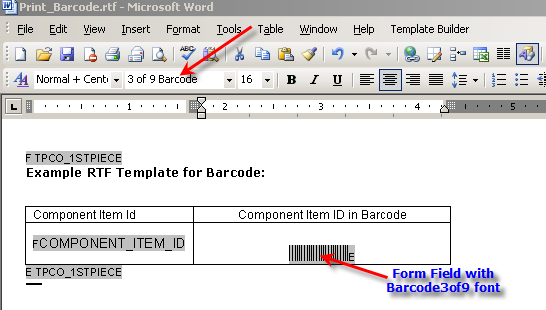 Printing bar code in oracle reports and xml publisher for How to create rtf template for xml publisher
