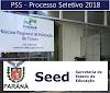 Edital PSS SEED-PR 2018: Abertura Inscrições NRE do Paraná