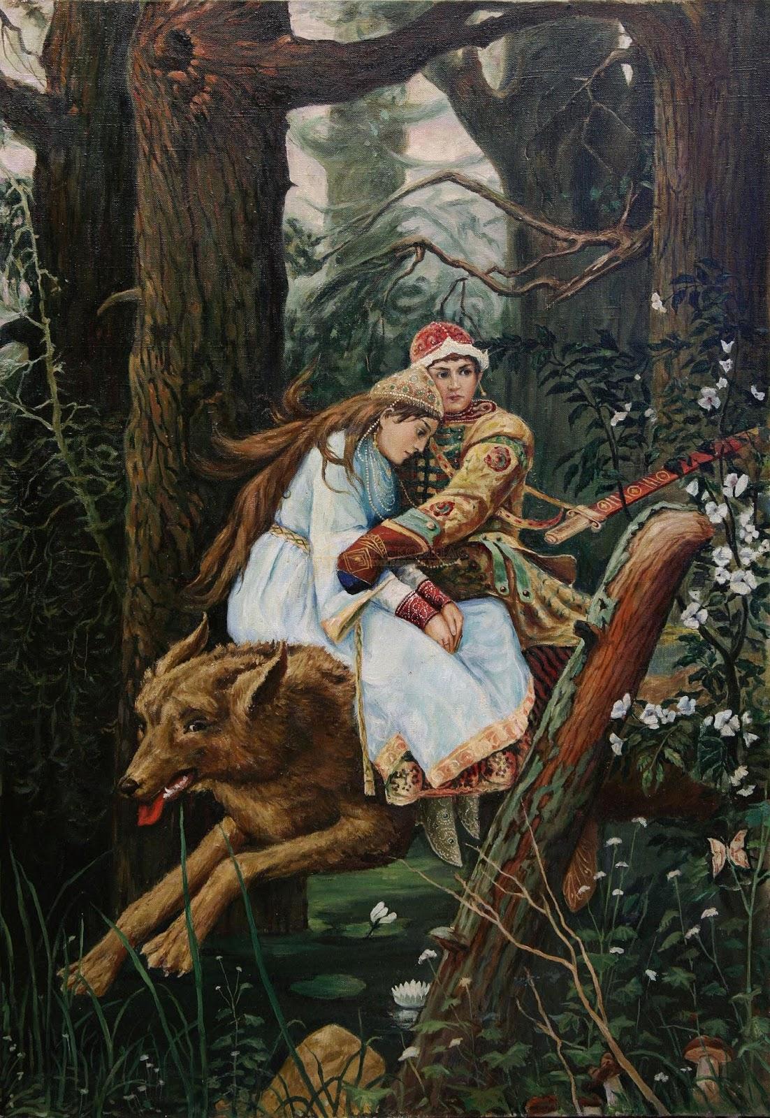 Началом, иван царевич и серый волк картинки к сказке васнецова