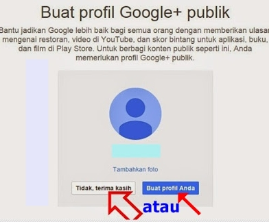 Membuat Profil Gooogle Plus