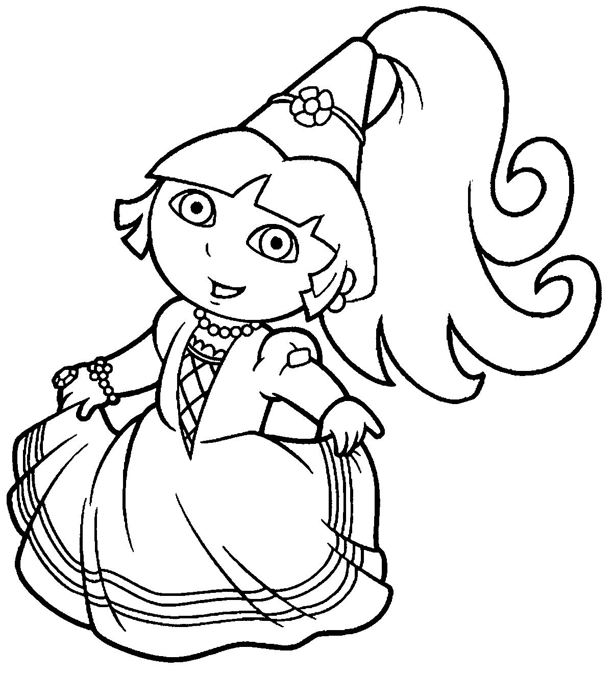 Brinquedos de Papel: Princesa Dora - Desenhos para colorir