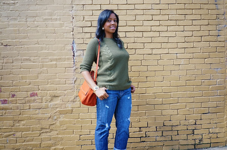 military green Cynthia Rowley sweater