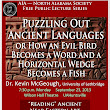 AIA Talk: Ancient Languages 23 September 7:30 PM