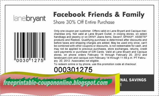 image about Lane Bryant Printable Coupons identify Printable Discount codes 2019: Lane Bryant Discount coupons
