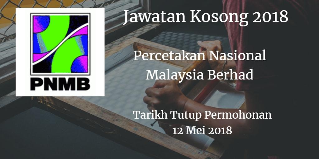 Jawatan Kosong PNMB 12 Mei 2018