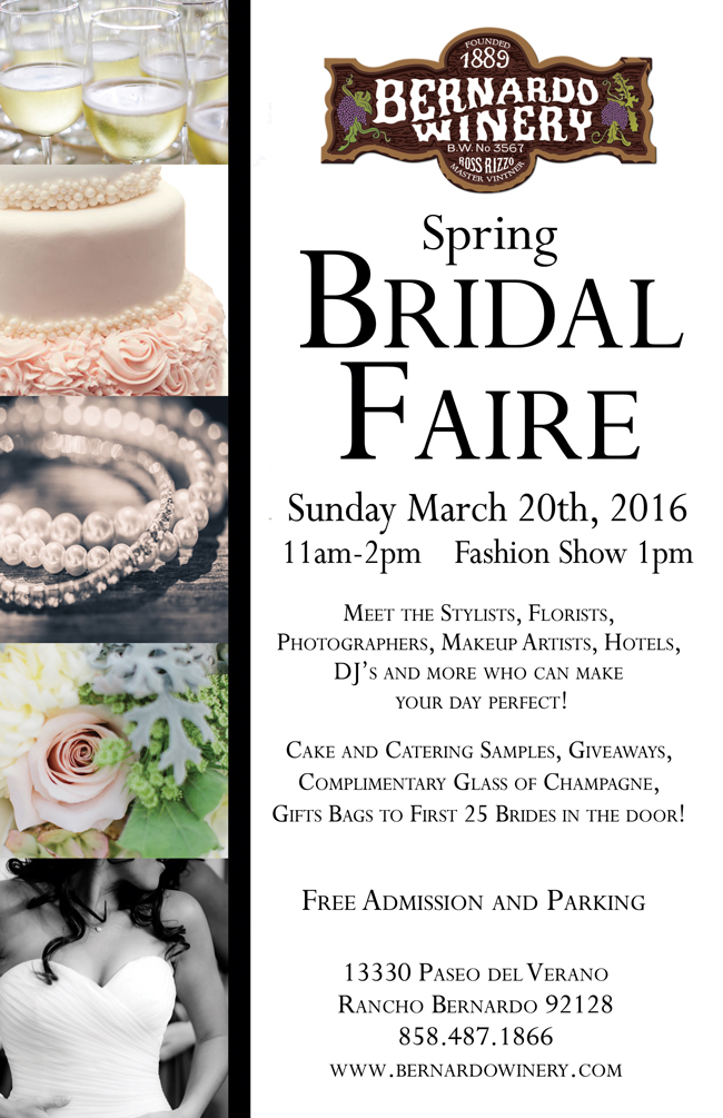 http://bernardowinery.com/calendar-of-events/spring-bridal-faire/