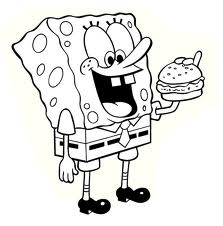 krabby patty coloring pages - photo#7