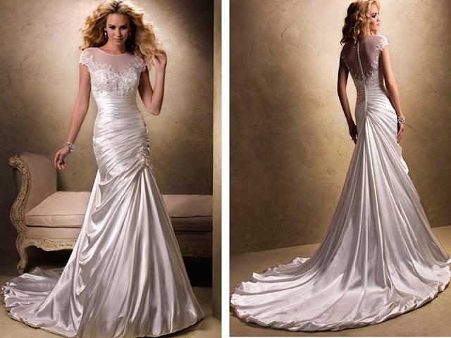 Vestidos para noivas comportadas