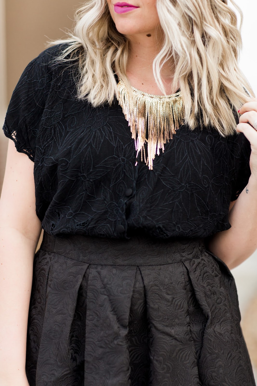 Fashionest, Fringe Necklace, Statement Necklace, Gold Necklace