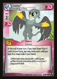 My Little Pony Gabby, Lending a Claw Defenders of Equestria CCG Card