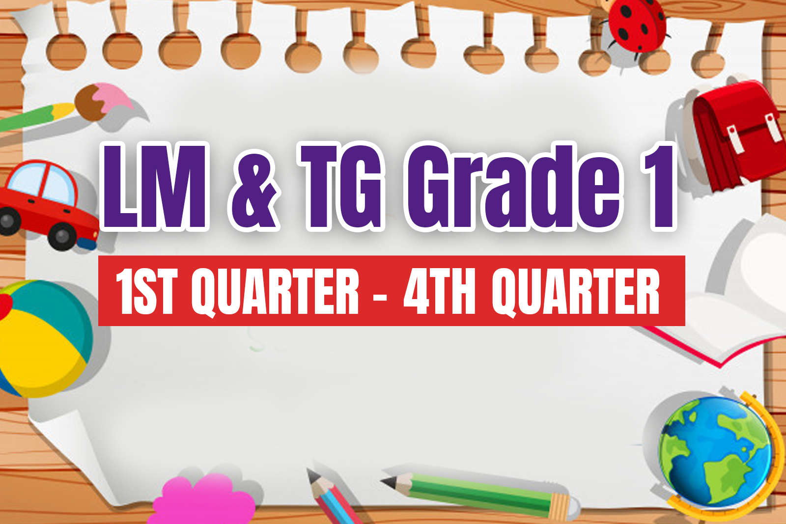 hight resolution of Learner's Material and Teachers Guide in Grade 1 (All Subjects) - mdmrara