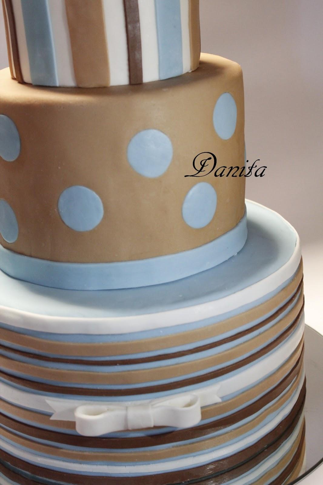 abbastanza Le leccornie di Danita: Torta a righe e pois per comunione OR34