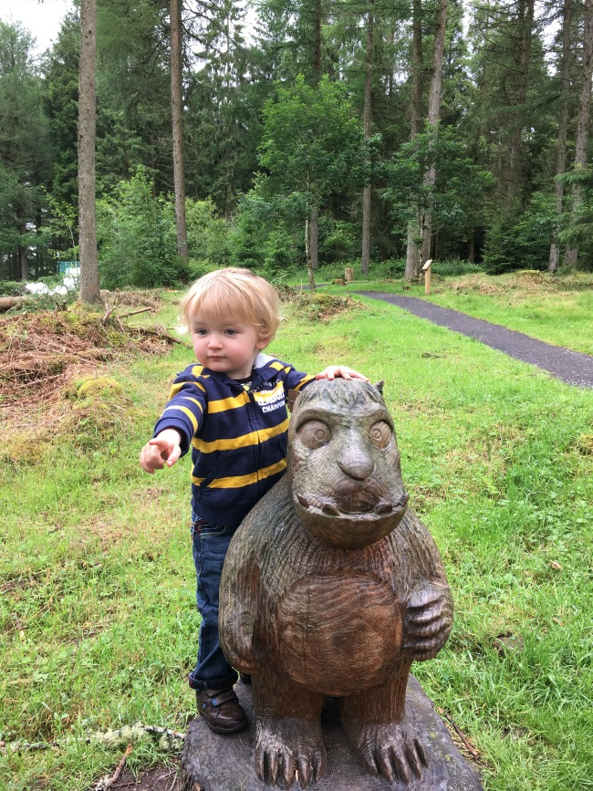 Garwnant-Visitor-Centre-A-Toddler-Explores-toddler-with-the-gruffalo