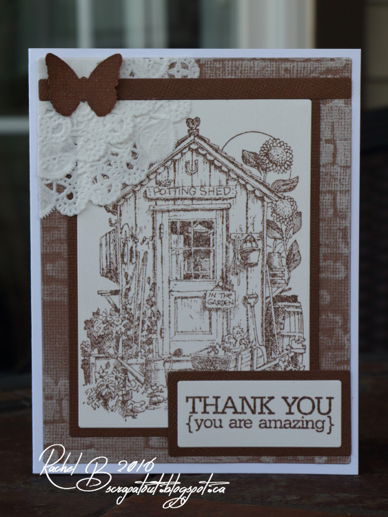 Scrapatout - Handmade card, Thank you, You are amazing, Impression Obsession, Potting Shed