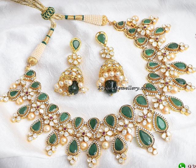 Emerald Uncut Set by SwarnSri Jewellers