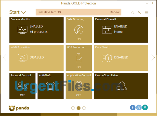 Panda Gold Protection Features PC