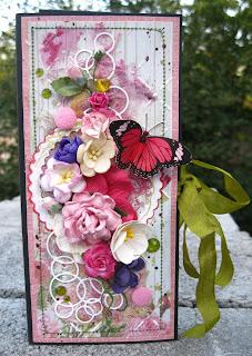 скрап,шоколадница,цветы,акварель,краски,марля,бинт,лента,шеббилента,розы