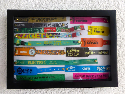 the ridiculous fashionblog: DIY// Festival Wristband Display