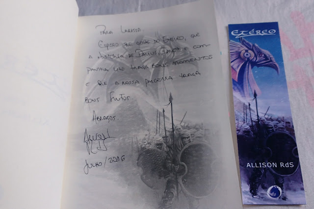 Autografo do autor