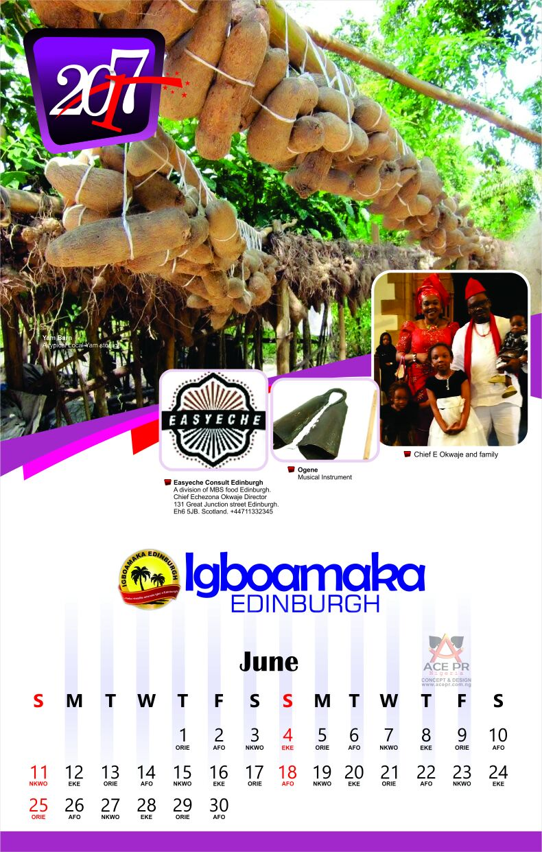 Calendar Design Nigeria : Naijafinestpromo sponsored igbo calendar by