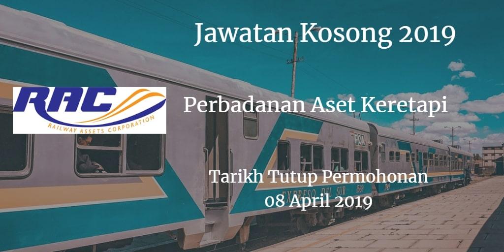 Jawatan Kosong RAC 08 April 2019