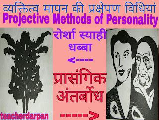 व्यक्तित्व मापन की विधियां, व्यक्तित्व मापन की प्रक्षेपी विधियां